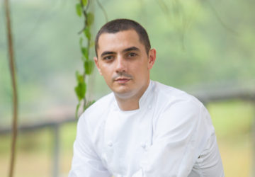 Julien Royer was born in central France to a family of farmers who believed in the purity of produce and ingredients