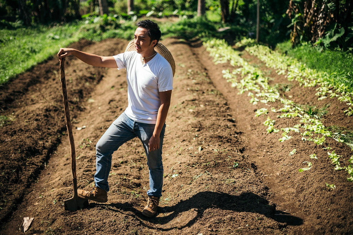 """""""The thing with organic farming here is that it is a relatively new concept. What we have is a product of trial and error,"""" says Raphael Dacones"""