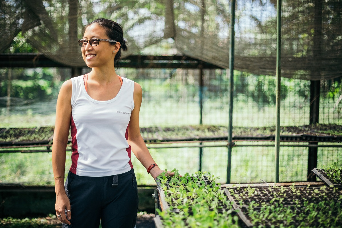 While Charlene Tan does not do farming herself, she empowers small farmers to plant organic produce by being a buyer