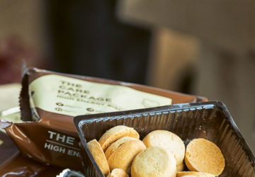 A pack of biscuits promises not just immediate nourishment but also relief from calamity