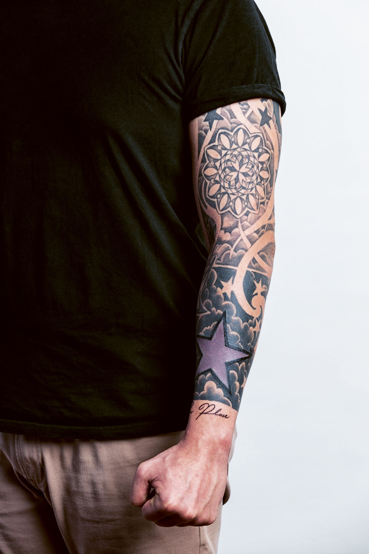 Chef and food consultant Francis Lim's tattoos are inked on his left arm, his non-dominant cooking arm