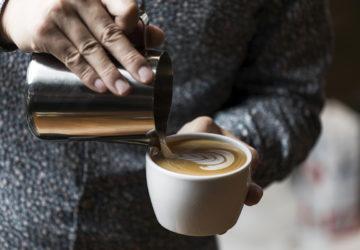 Hidenori Izaki showed his latte art-making skills that earned him the title of World Barista Champion in 2014