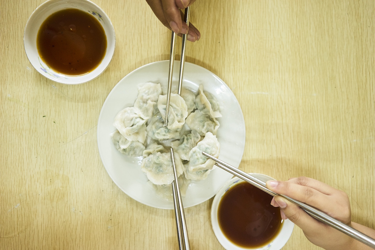 Kuchay dumpling from Dong Bei Dumplings, one of Binondo's bests