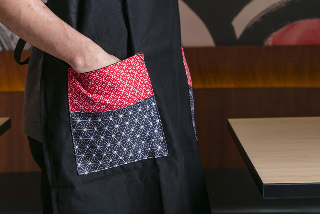 The patterns used throughout the new Tokyo Tokyo restaurants are also reflected on the updated staff uniforms
