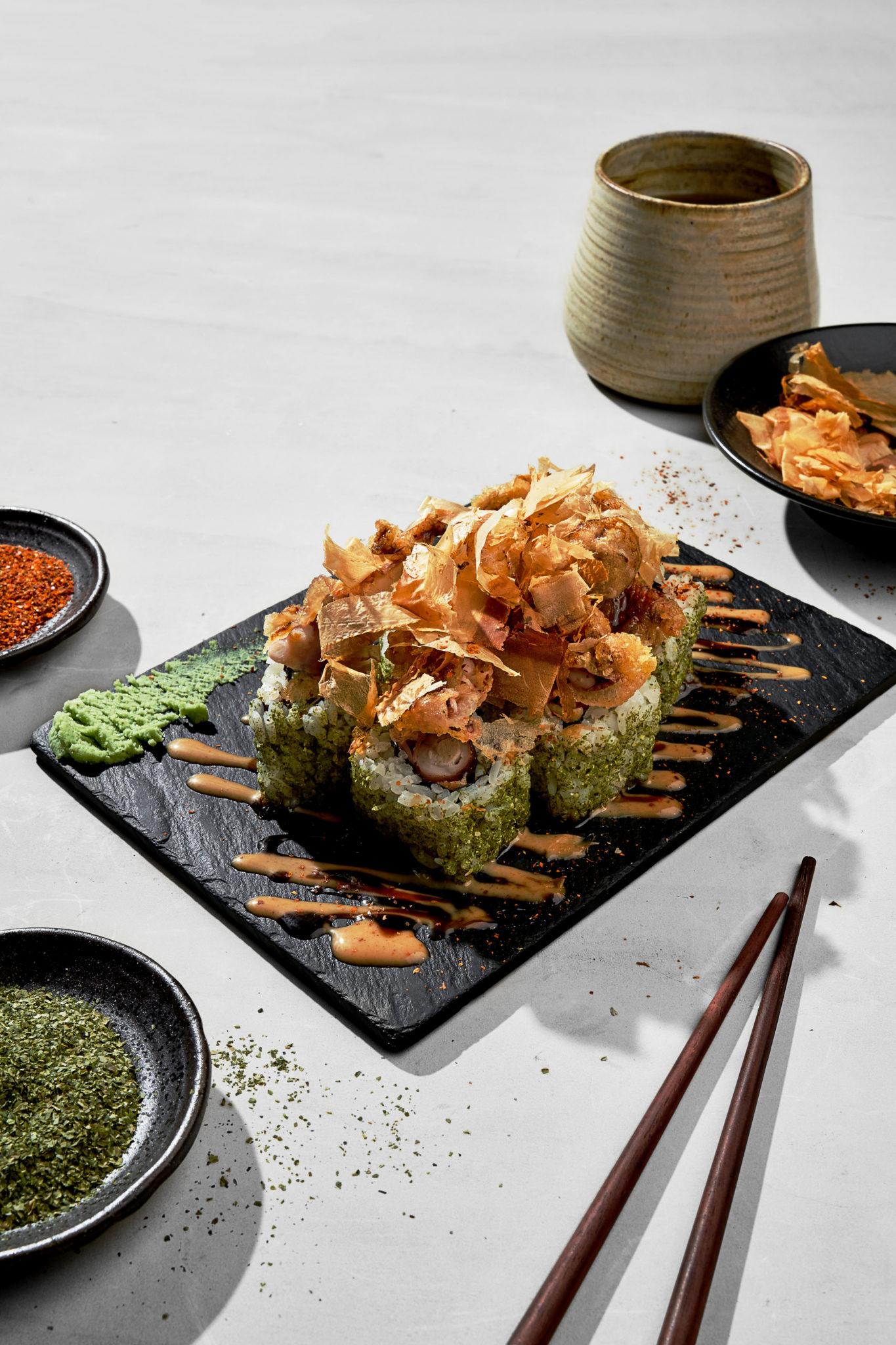 Ooma menu update: Crispy taco maki