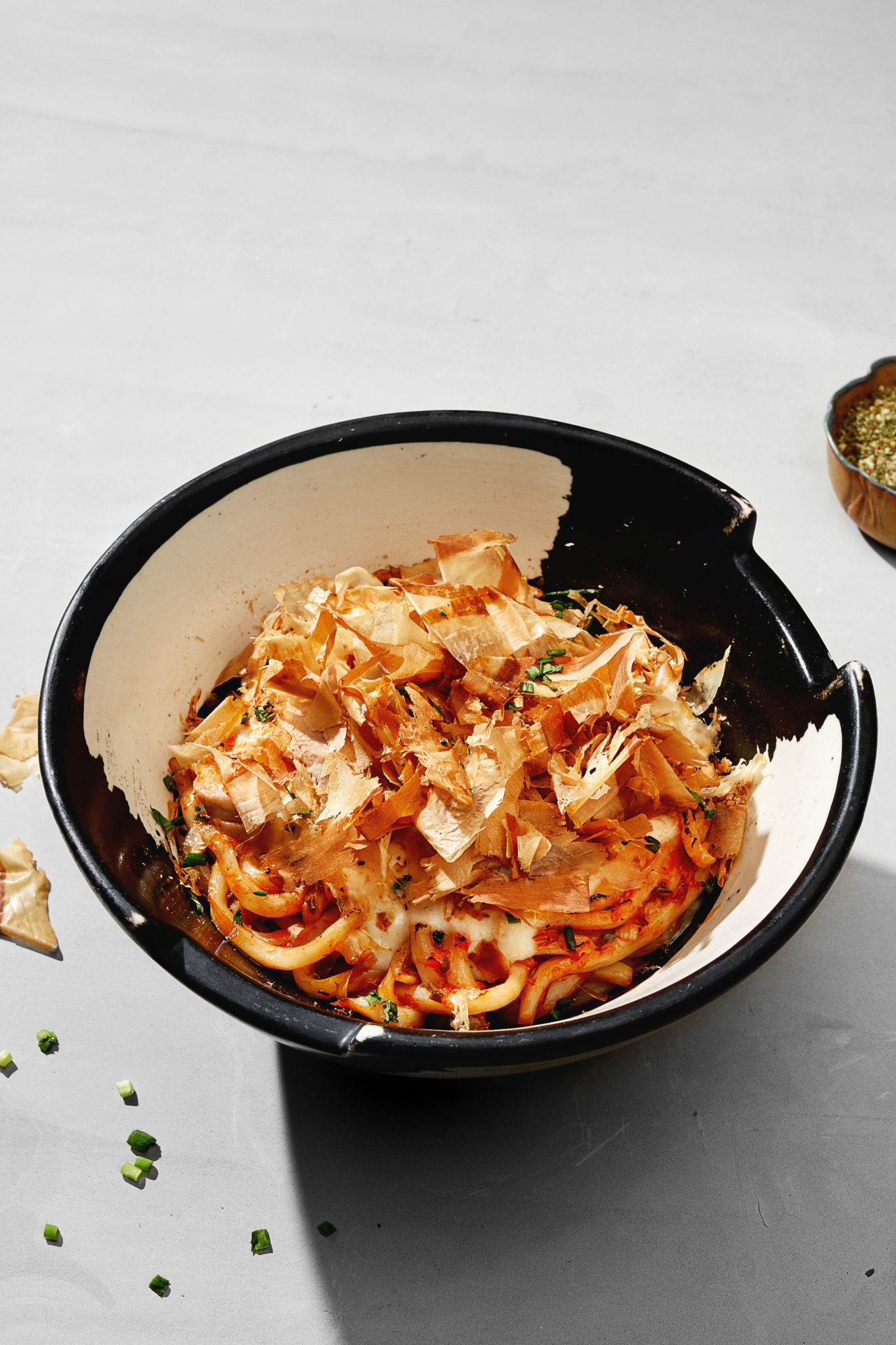 The udon Bolognese is an edible nod to the Japanese fascination for European culture and cuisine