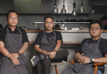 Hapag chefs and co-owners Kevin Navoa, Thirdy Dolatre, and Kevin Villarica