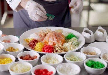 chinese new year resorts world yee sang prosperity toss