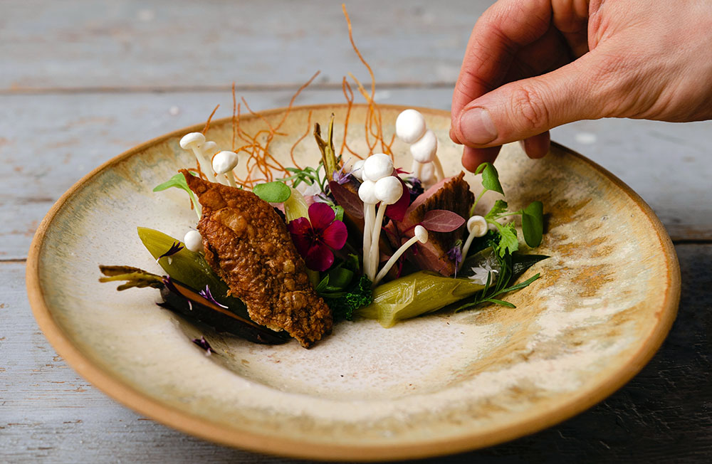"""Food as art"" by chef William Hellgren at Hotel Nestor and Restaurant Back Pocket Korpo, Finland"