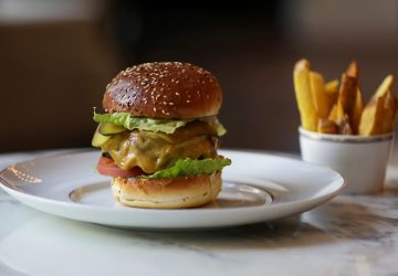 The Waldorf signature burger