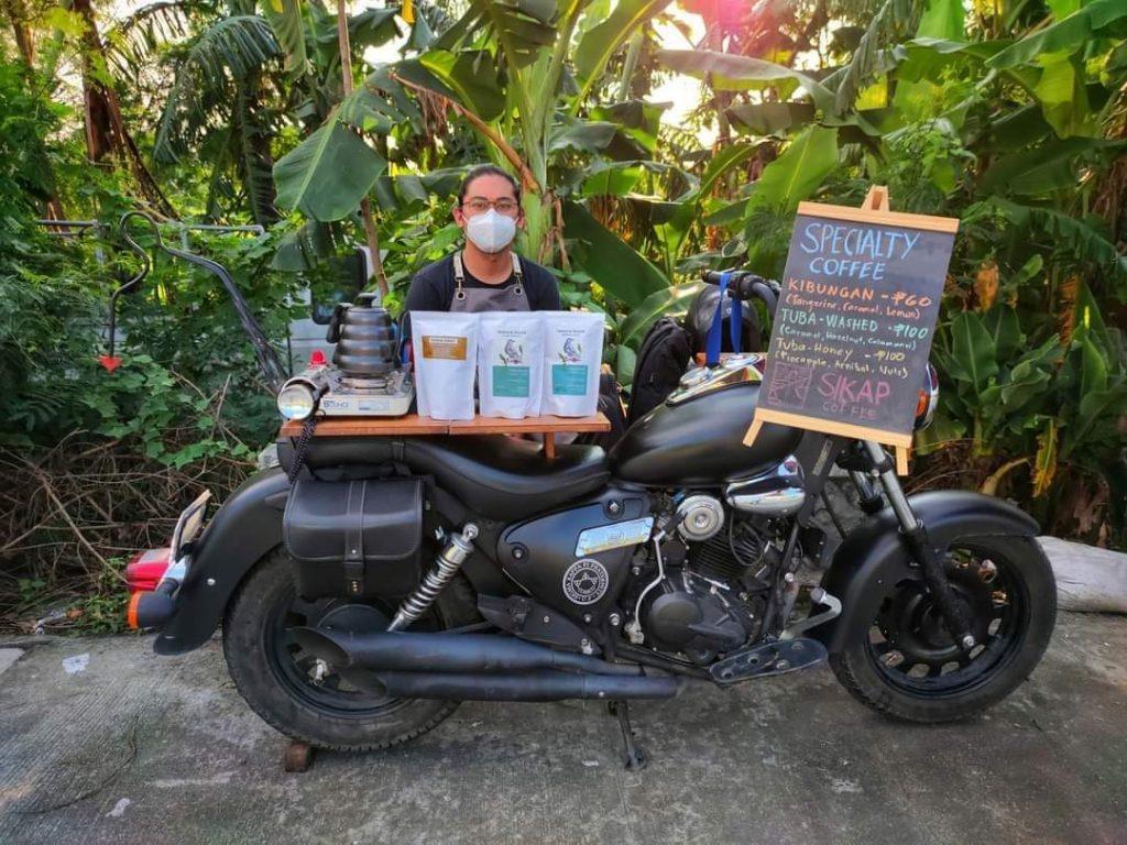 Former call center agent Stephen Villena is Sikap Coffee's main barista