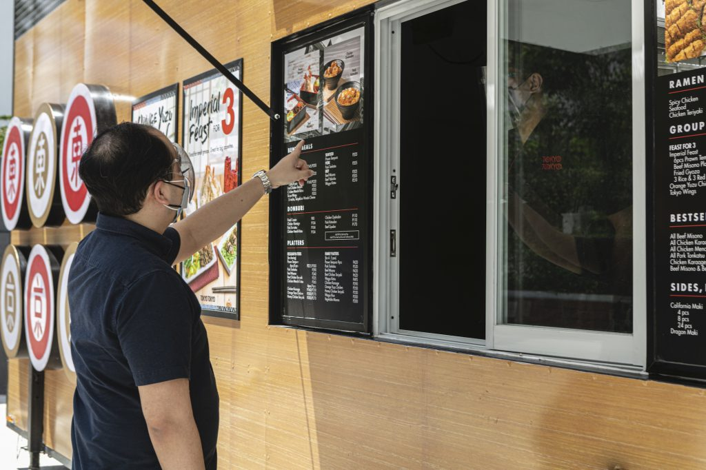The express stores follow the existing lifestyle design restaurants' aesthetics