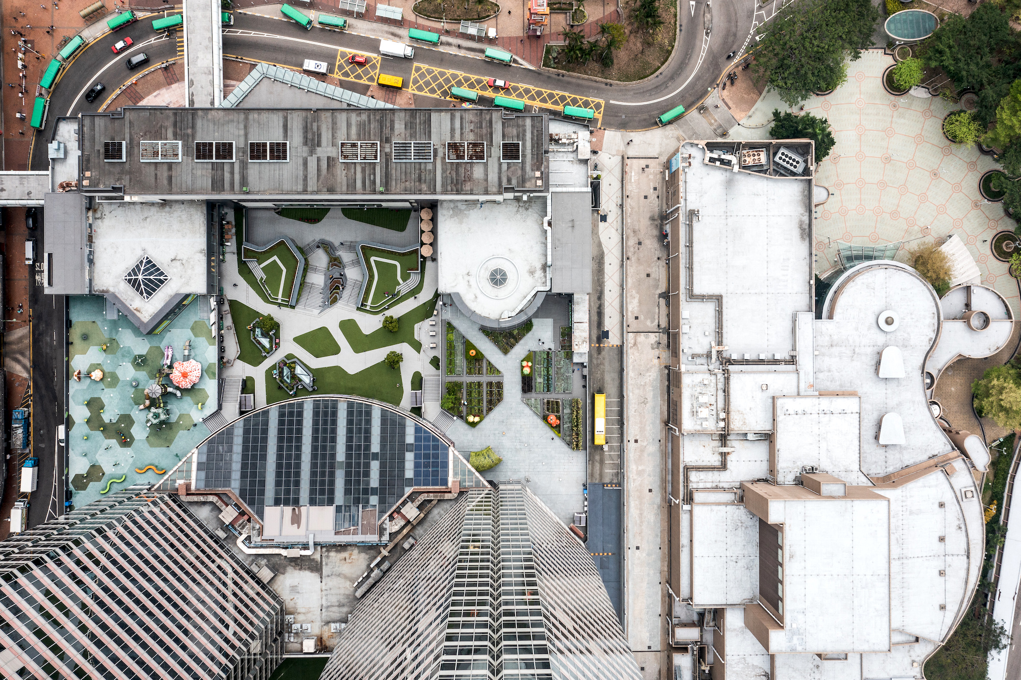 Most of Hong Kong's urban farms are on decommissioned helipads, shopping mall rooftops and public terraces