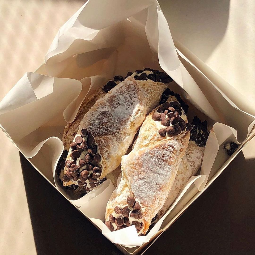 This box of cannoli has become one of the signature products of Nothing But Jill