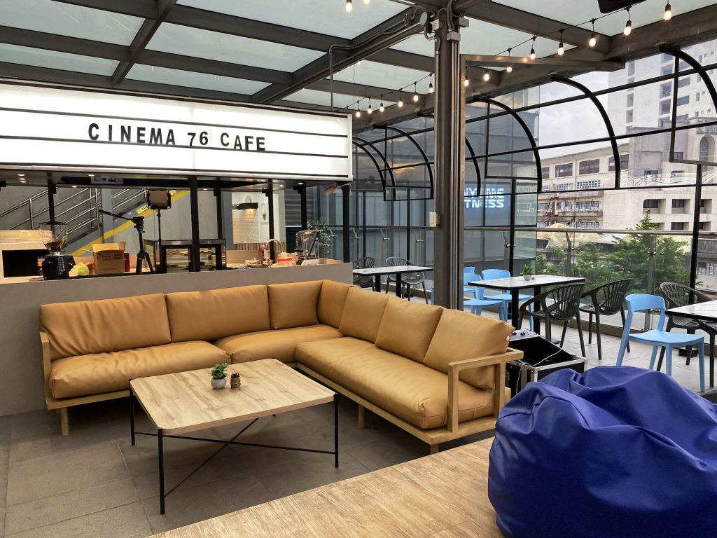 Perhaps the best attribute of Cinema '76 Café is that it's entirely al fresco, facing the LRT 2 tracks that snake along Aurora Boulevard