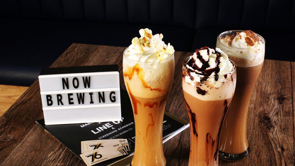 Cinema 76 Cafe's range of ice drinks include a popcorn frappe