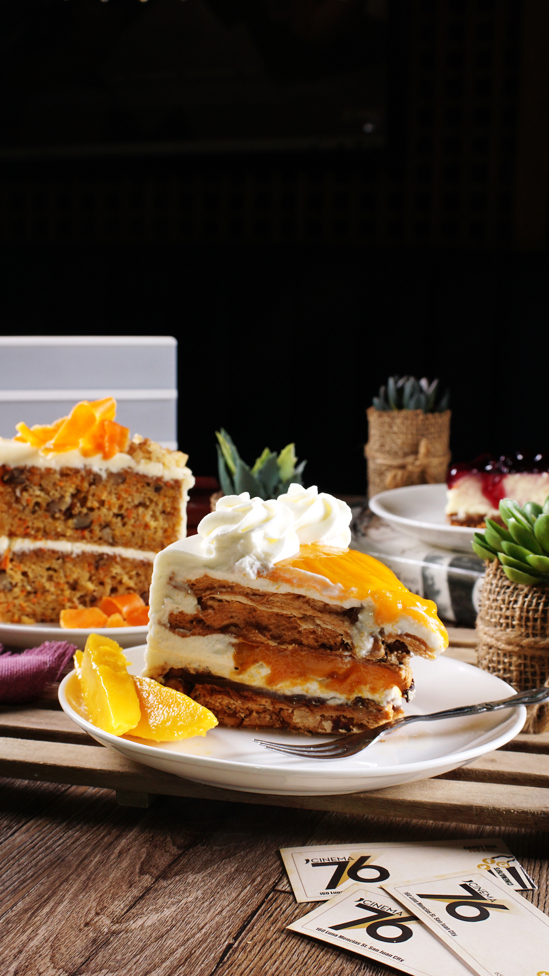 Cinema 76 Cafe's mango cake