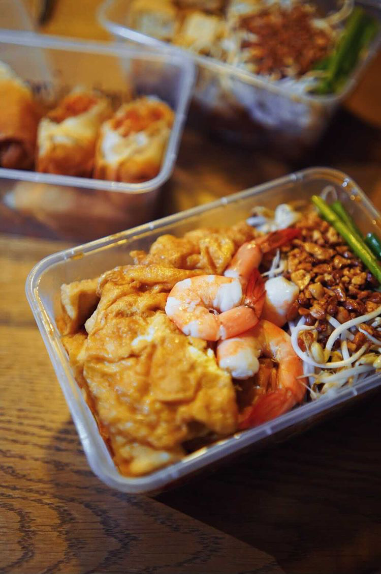 Puesto sells its pad thai in tubs that are good for two to three people